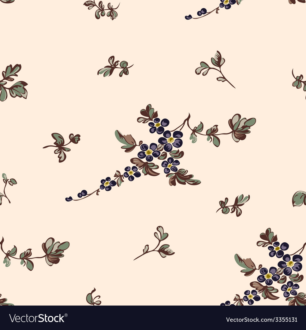 Seampless pattern blue flower vector | Price: 1 Credit (USD $1)