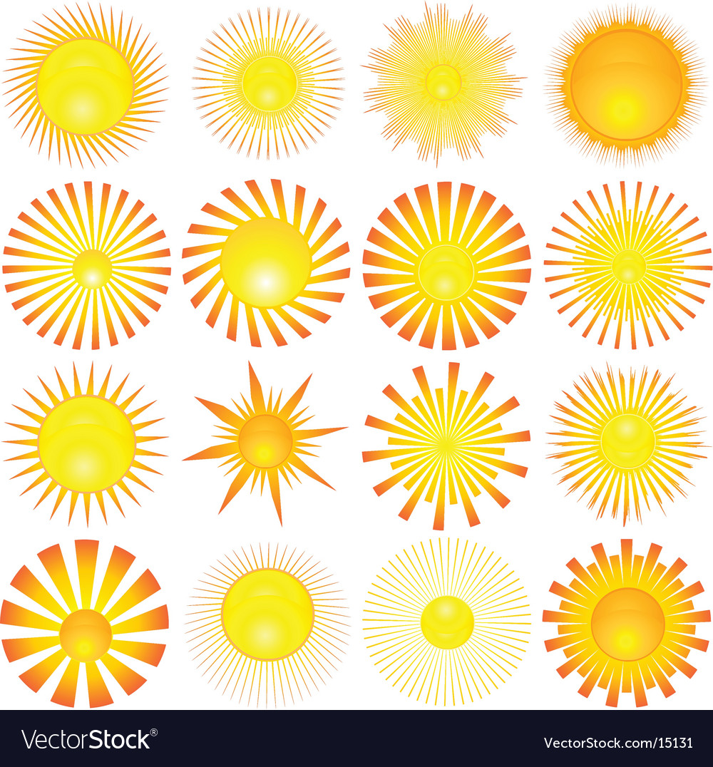 Sun shapes vector   Price: 1 Credit (USD $1)