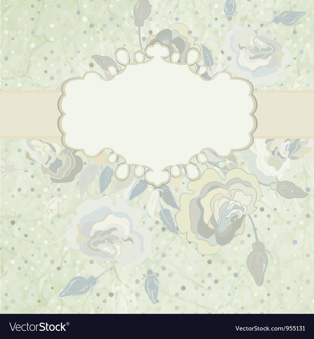 Vintage roses frame vector | Price: 1 Credit (USD $1)