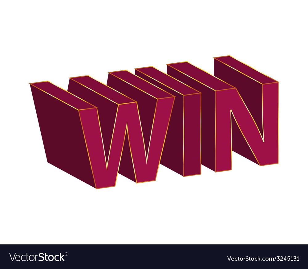 Win text design vector | Price: 1 Credit (USD $1)