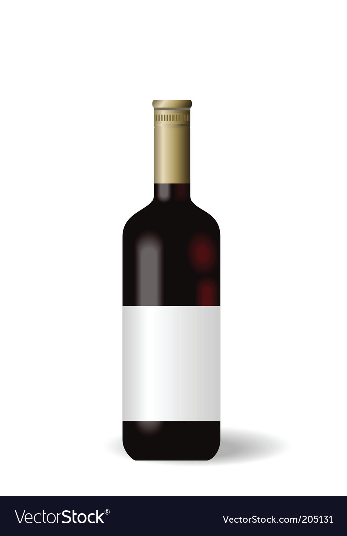 Wine bottle with label vector | Price: 1 Credit (USD $1)