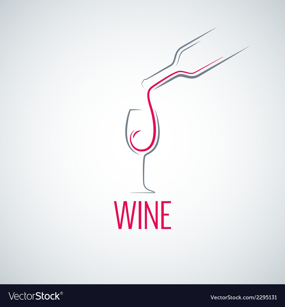 Wine glass concept menu background vector | Price: 1 Credit (USD $1)