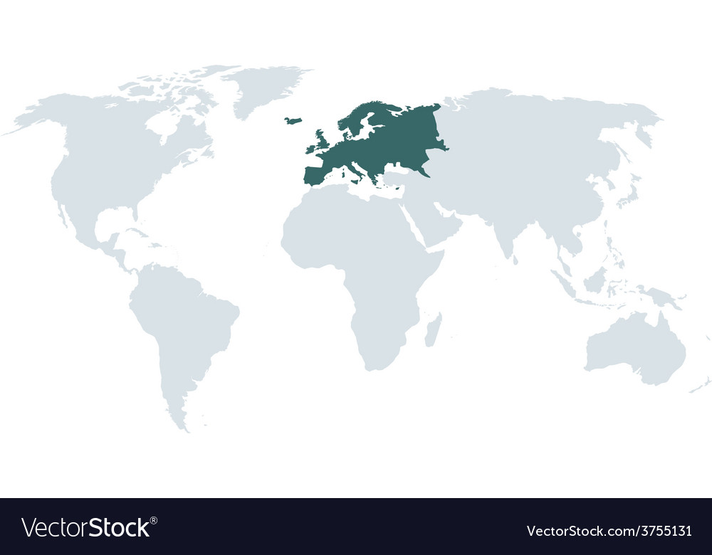 World map europe vector | Price: 1 Credit (USD $1)