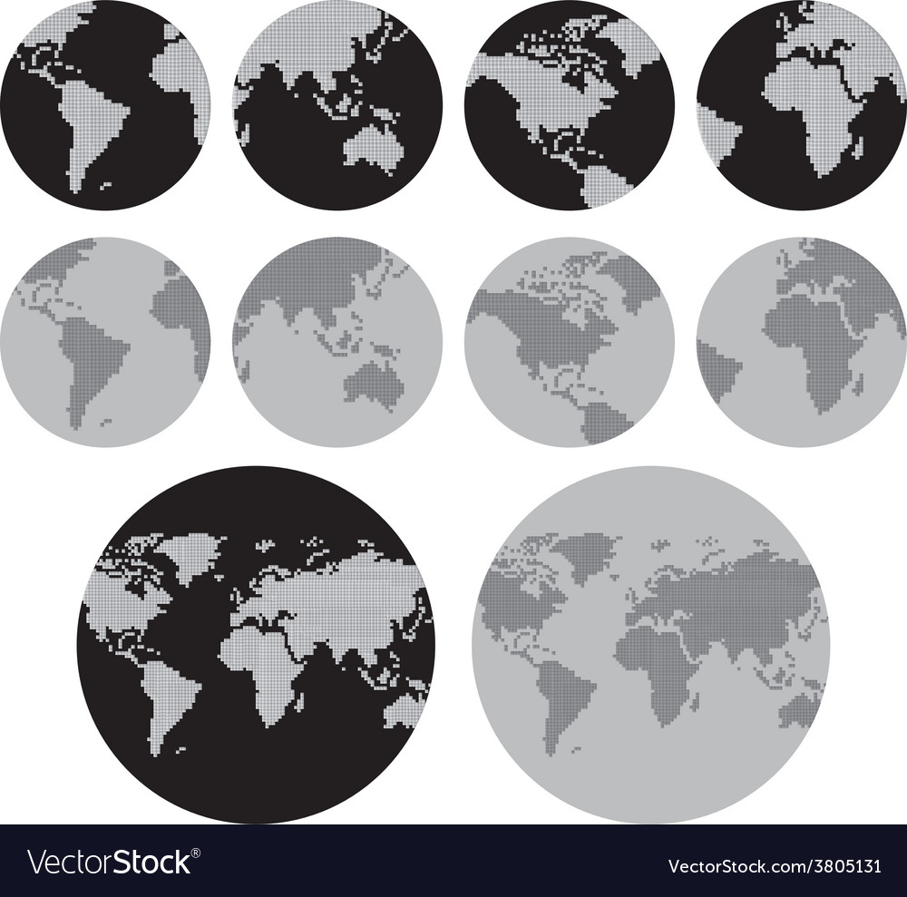 World map theme vector | Price: 1 Credit (USD $1)