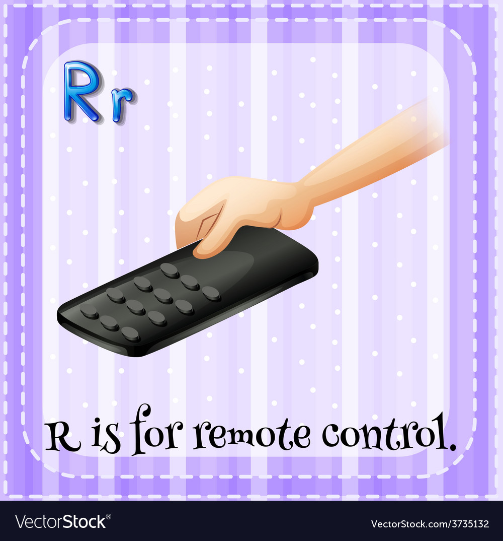 A letter r for remote control vector | Price: 1 Credit (USD $1)