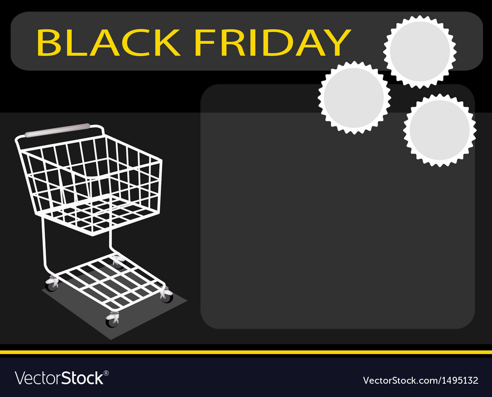 A shopping cart on black friday background vector | Price: 1 Credit (USD $1)