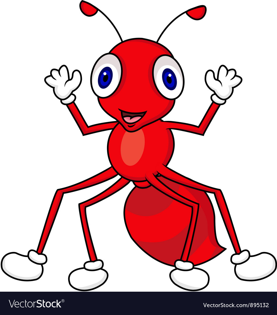 Ant cartoon vector | Price: 3 Credit (USD $3)