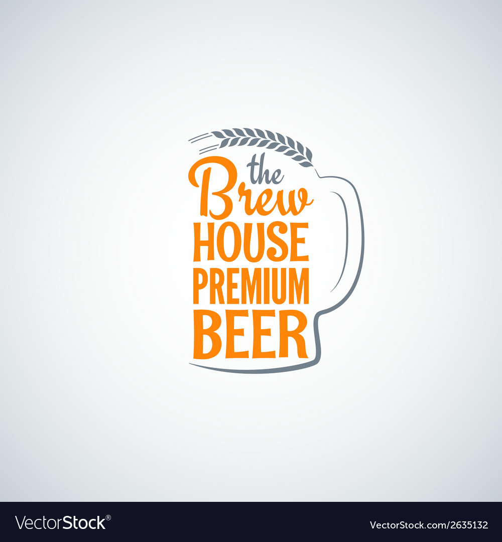 Beer bottle glass background vector | Price: 1 Credit (USD $1)