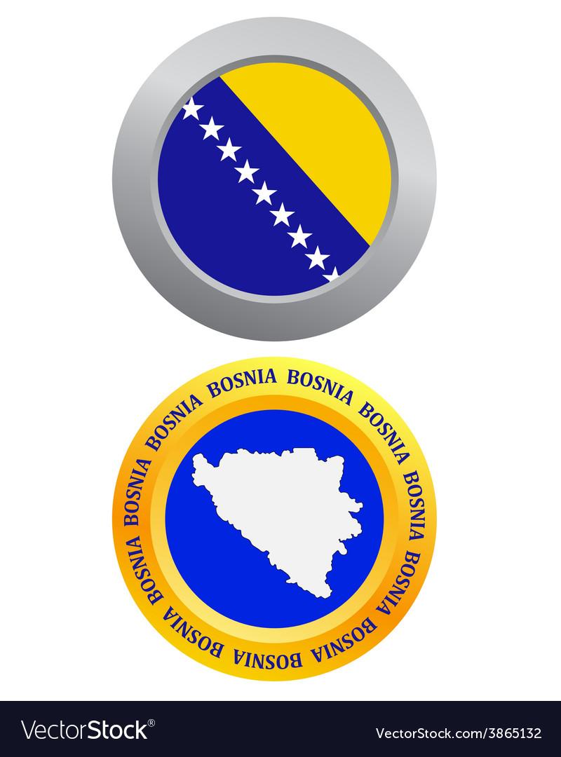 Button as a symbol bosnia vector | Price: 1 Credit (USD $1)