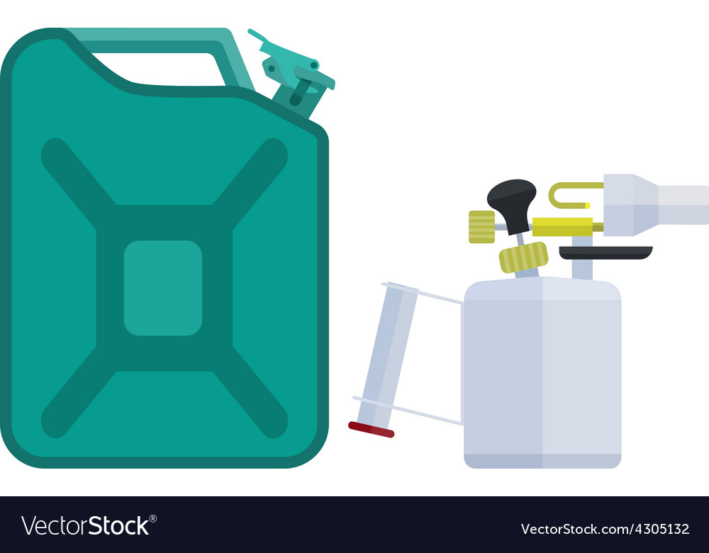 Canister and blowtorch vector | Price: 1 Credit (USD $1)