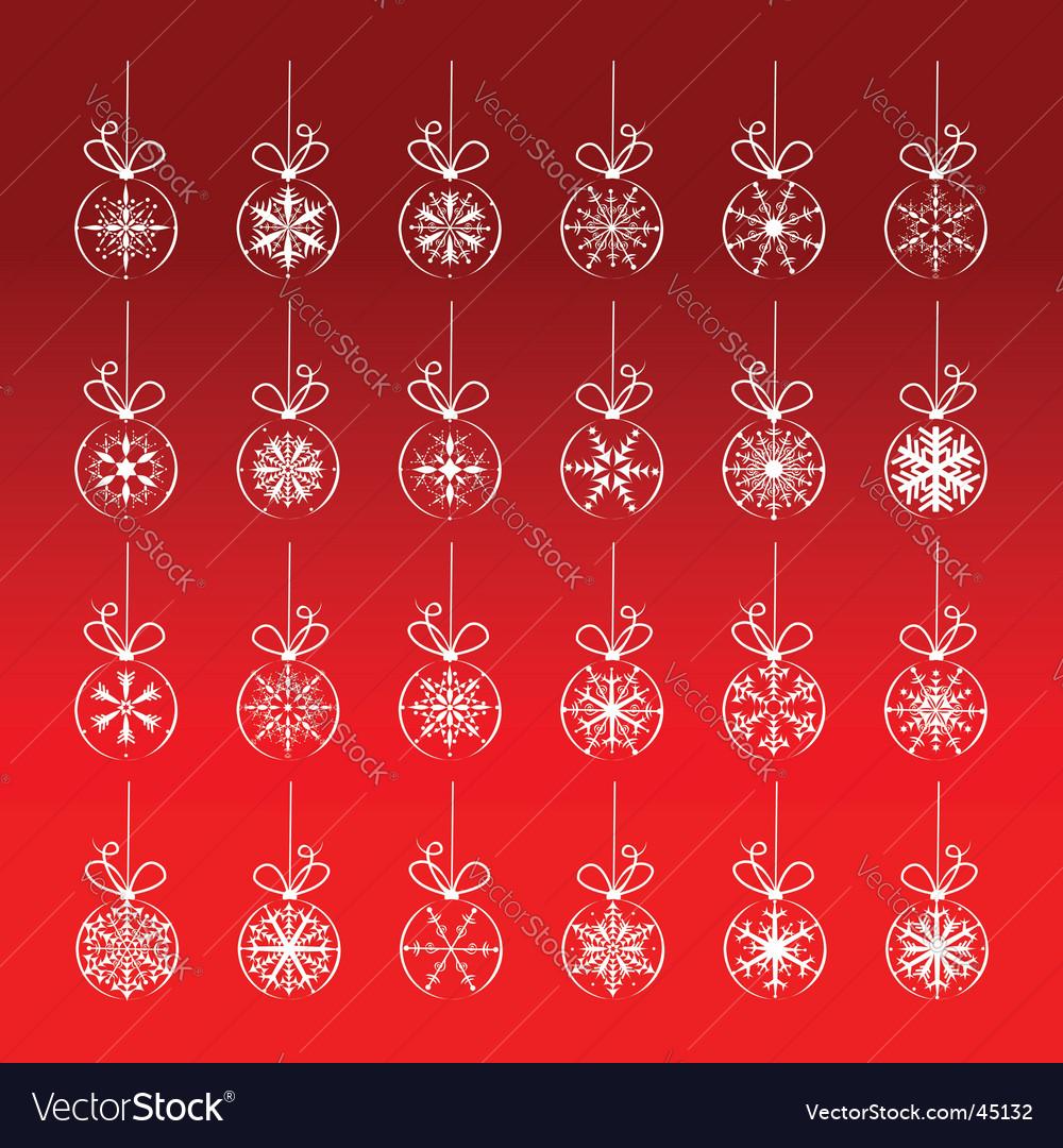 Christmas decoration set vector | Price: 1 Credit (USD $1)