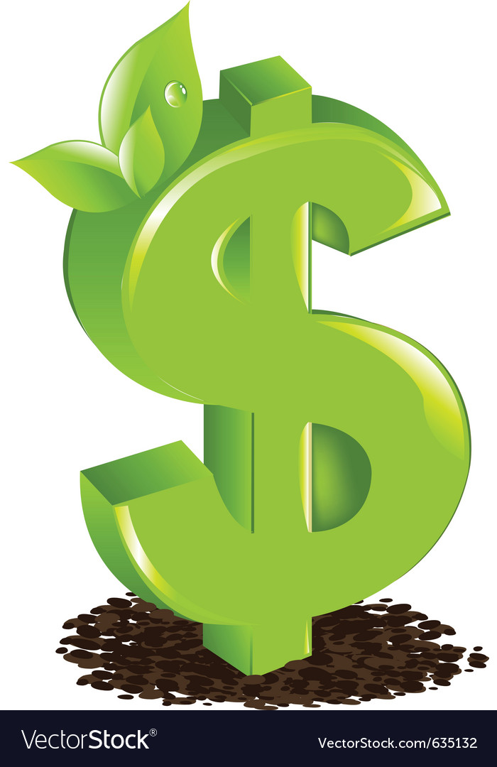 Dollar with sprout vector | Price: 1 Credit (USD $1)