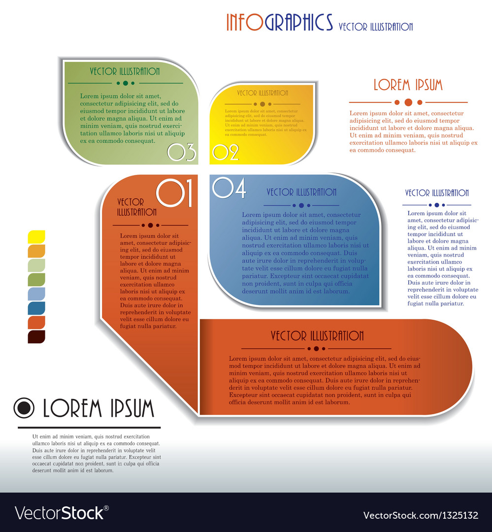 Modern infographics template with numbers vector | Price: 1 Credit (USD $1)