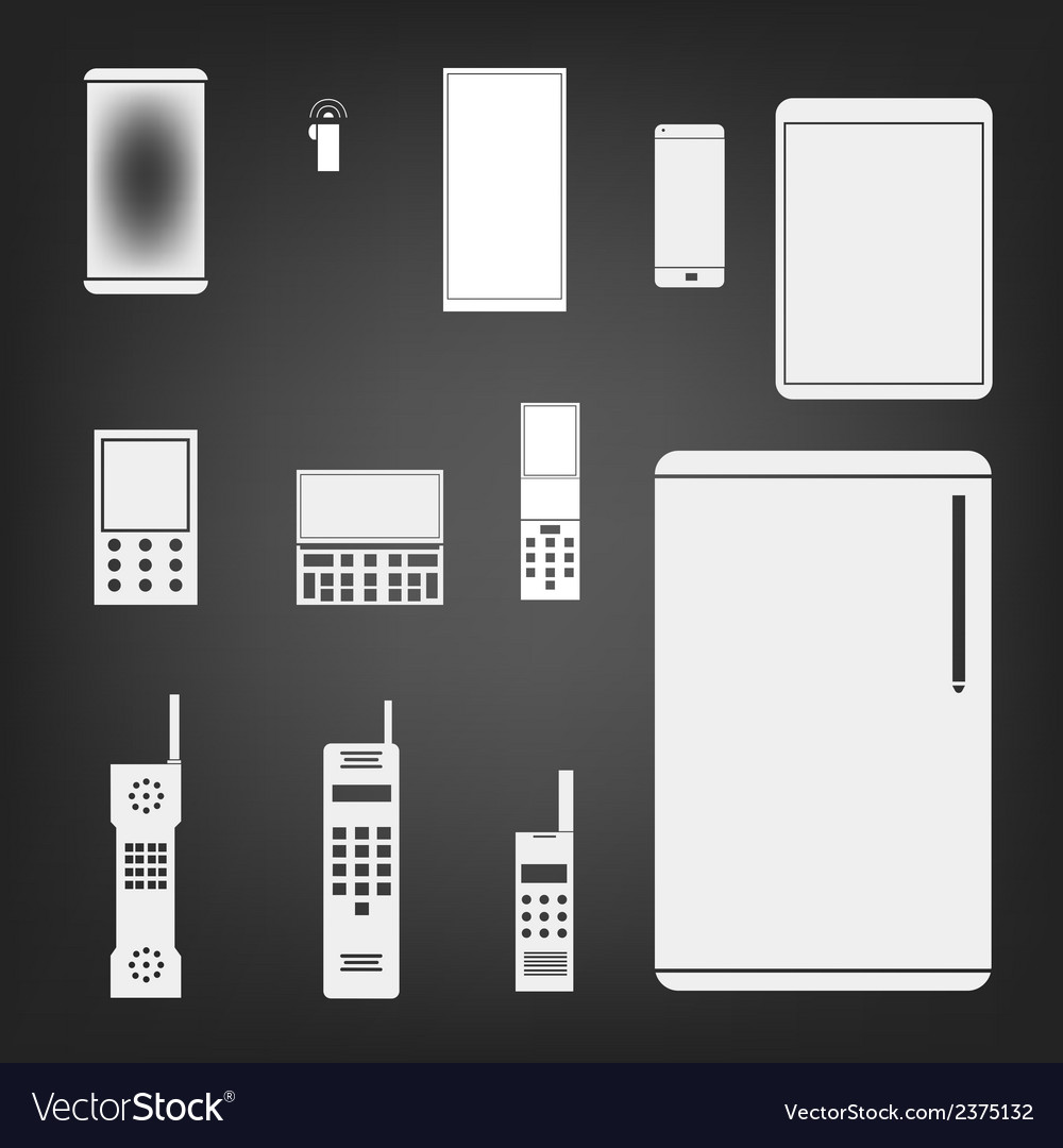 Phone set simple icon vector | Price: 1 Credit (USD $1)