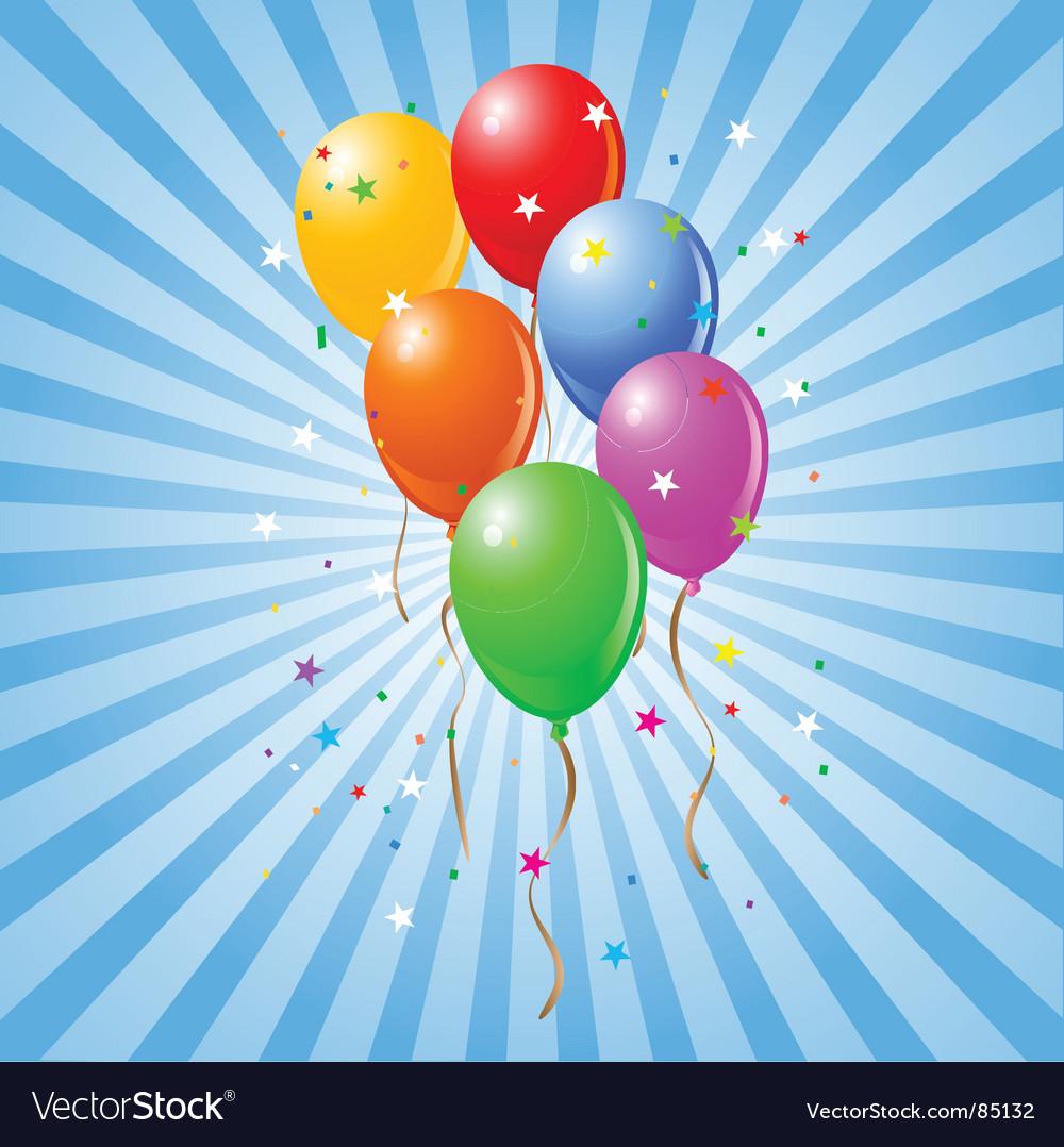 Shiny balloons vector | Price: 1 Credit (USD $1)