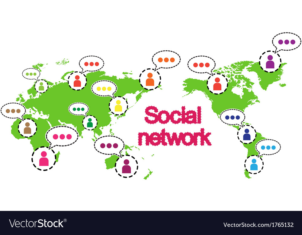 Social networking conceptual vector | Price: 1 Credit (USD $1)