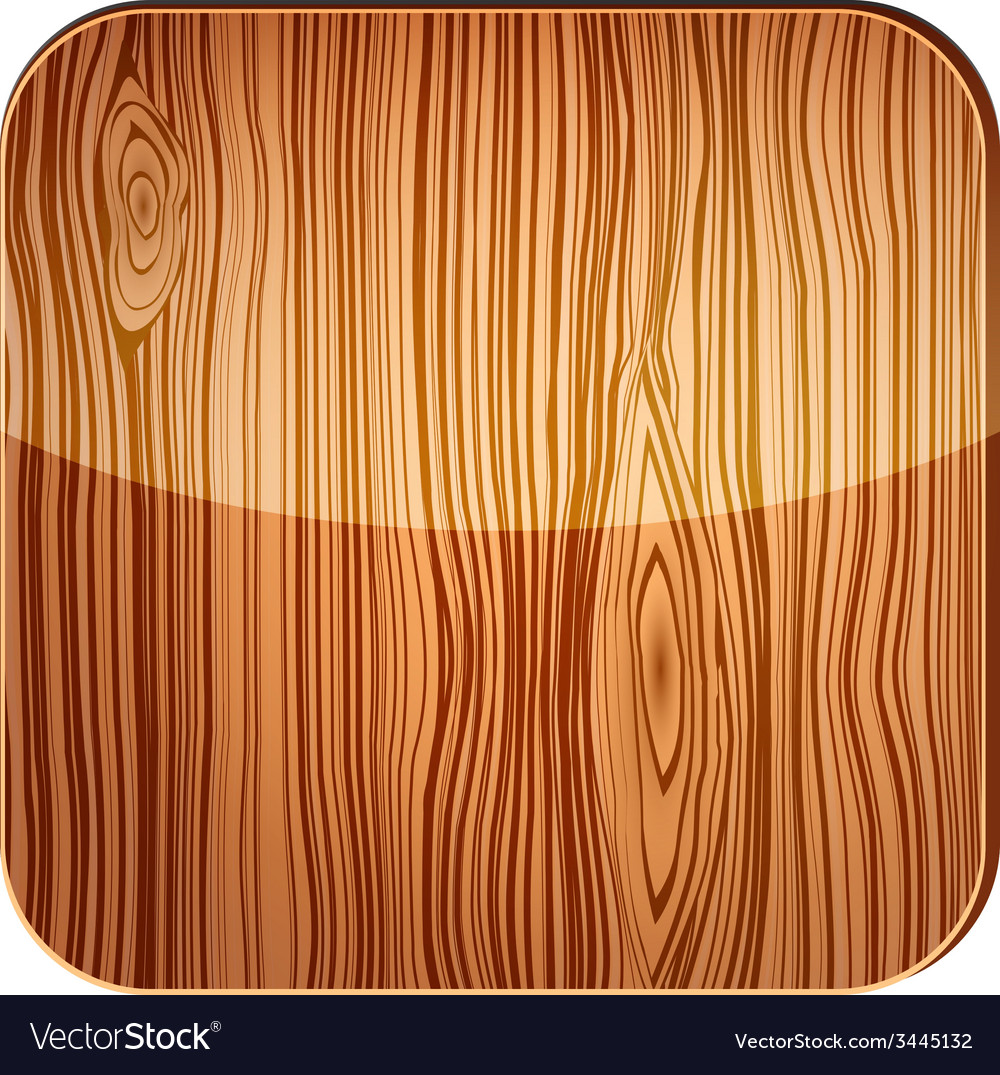 Wooden icon with glare vector | Price: 1 Credit (USD $1)