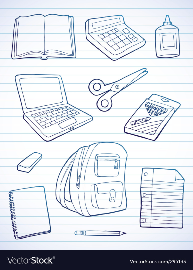 Back to school doodles vector | Price: 1 Credit (USD $1)