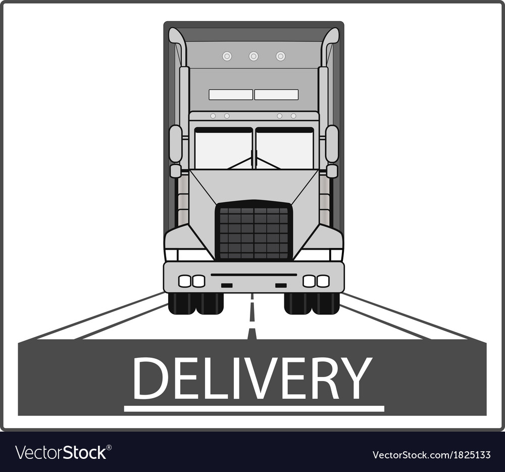 Big heavy truck on road vector | Price: 1 Credit (USD $1)