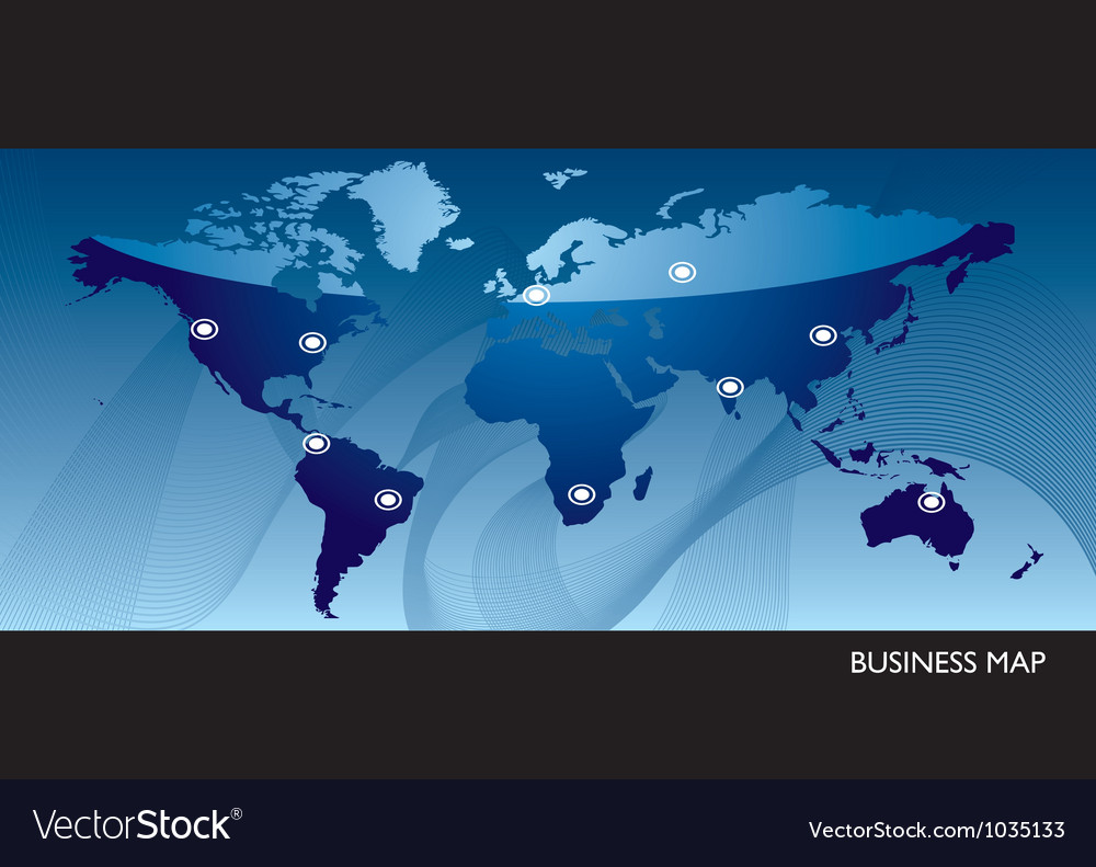 Business blue world map vector | Price: 1 Credit (USD $1)