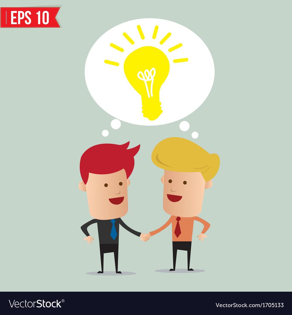 Business man hand shake - - eps10 vector | Price: 1 Credit (USD $1)