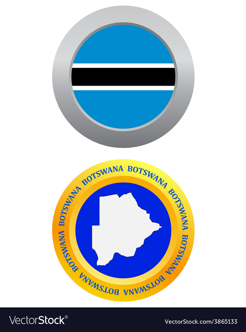 Button as a symbol botswana vector   Price: 1 Credit (USD $1)
