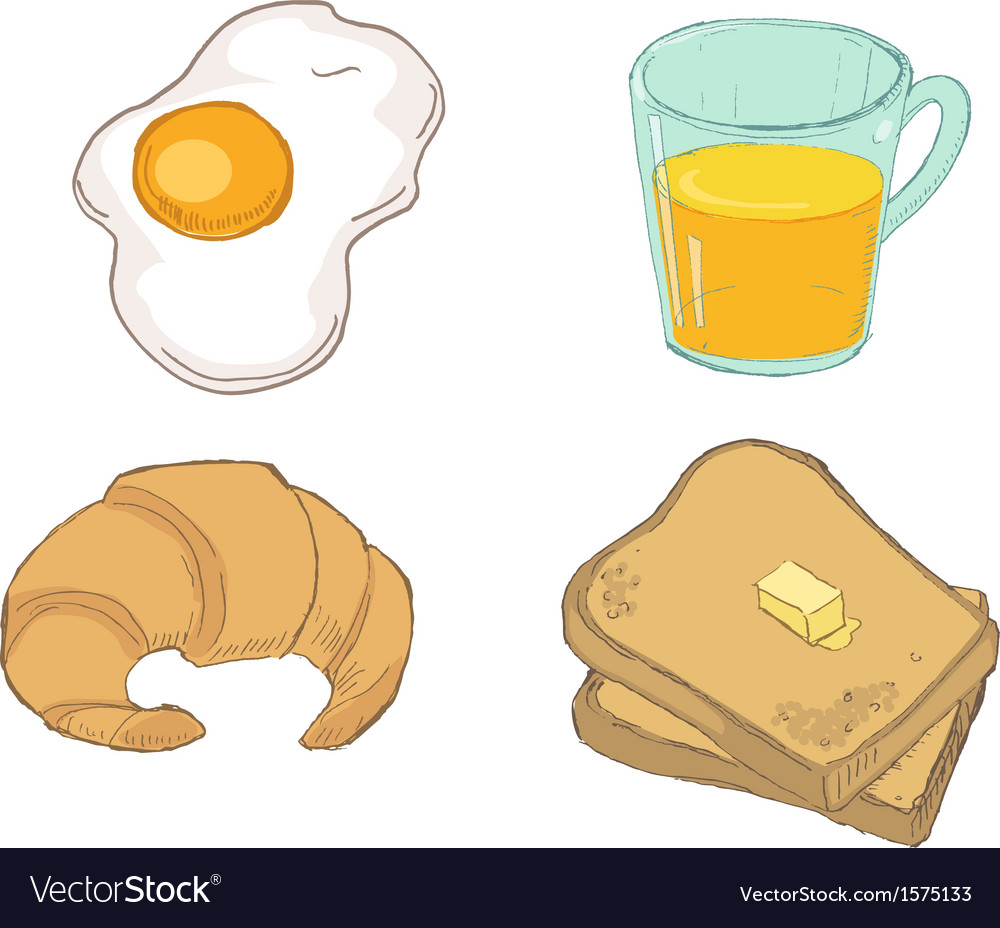 Drawn breakfast vector | Price: 1 Credit (USD $1)