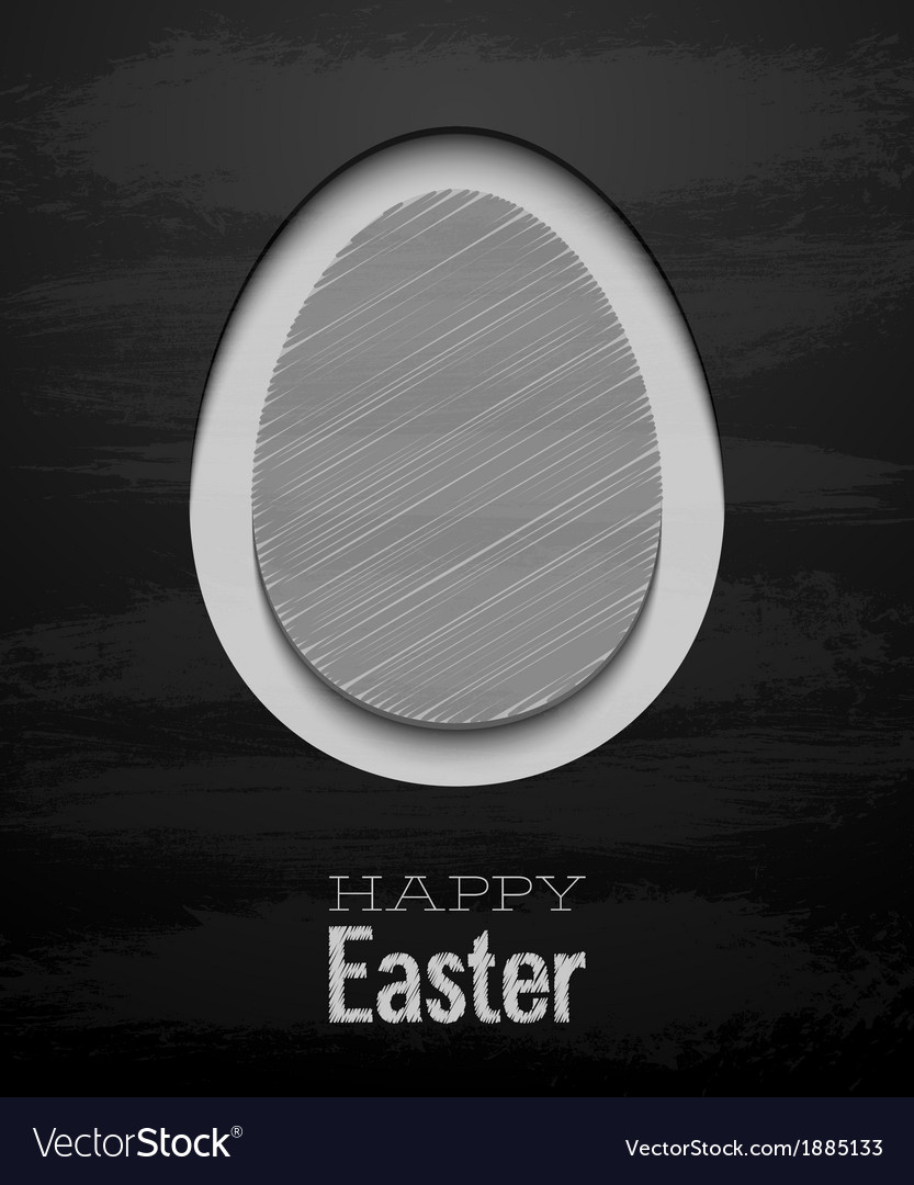Easter card with egg - chalkboard vector | Price: 1 Credit (USD $1)