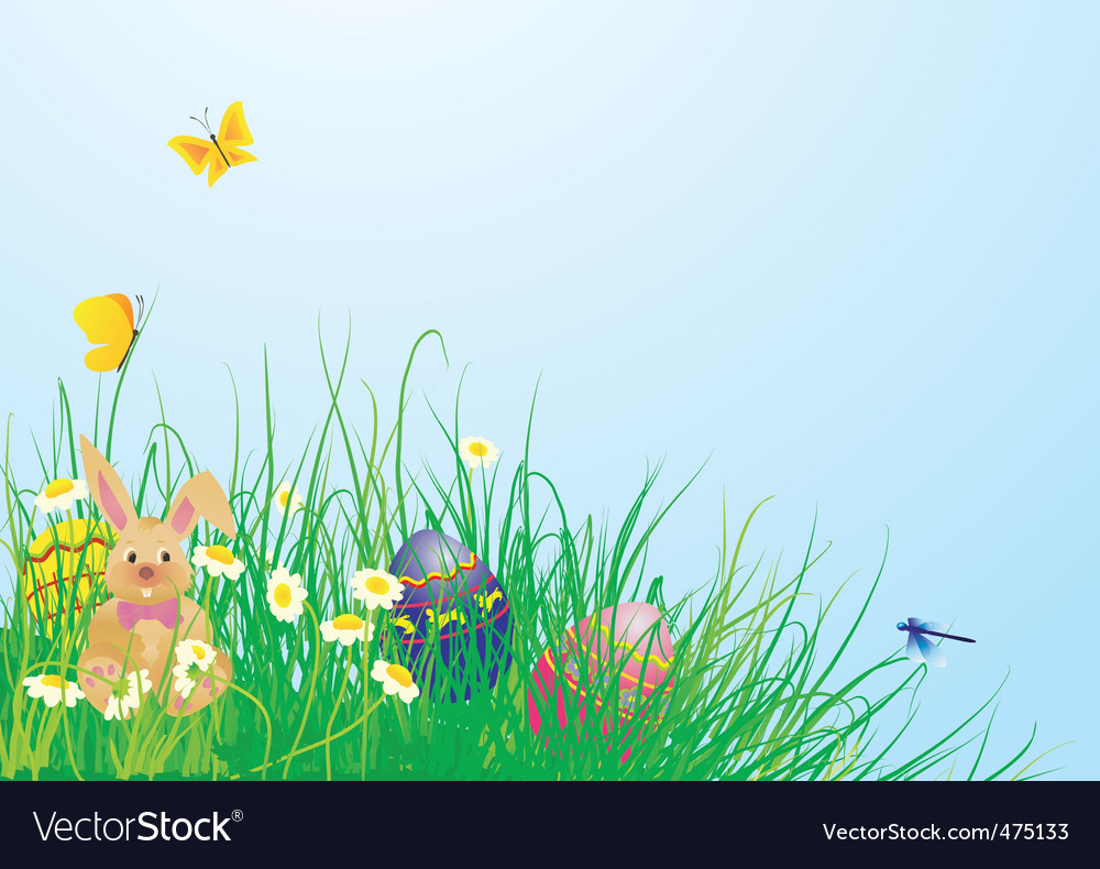 Easter grass vector | Price: 1 Credit (USD $1)