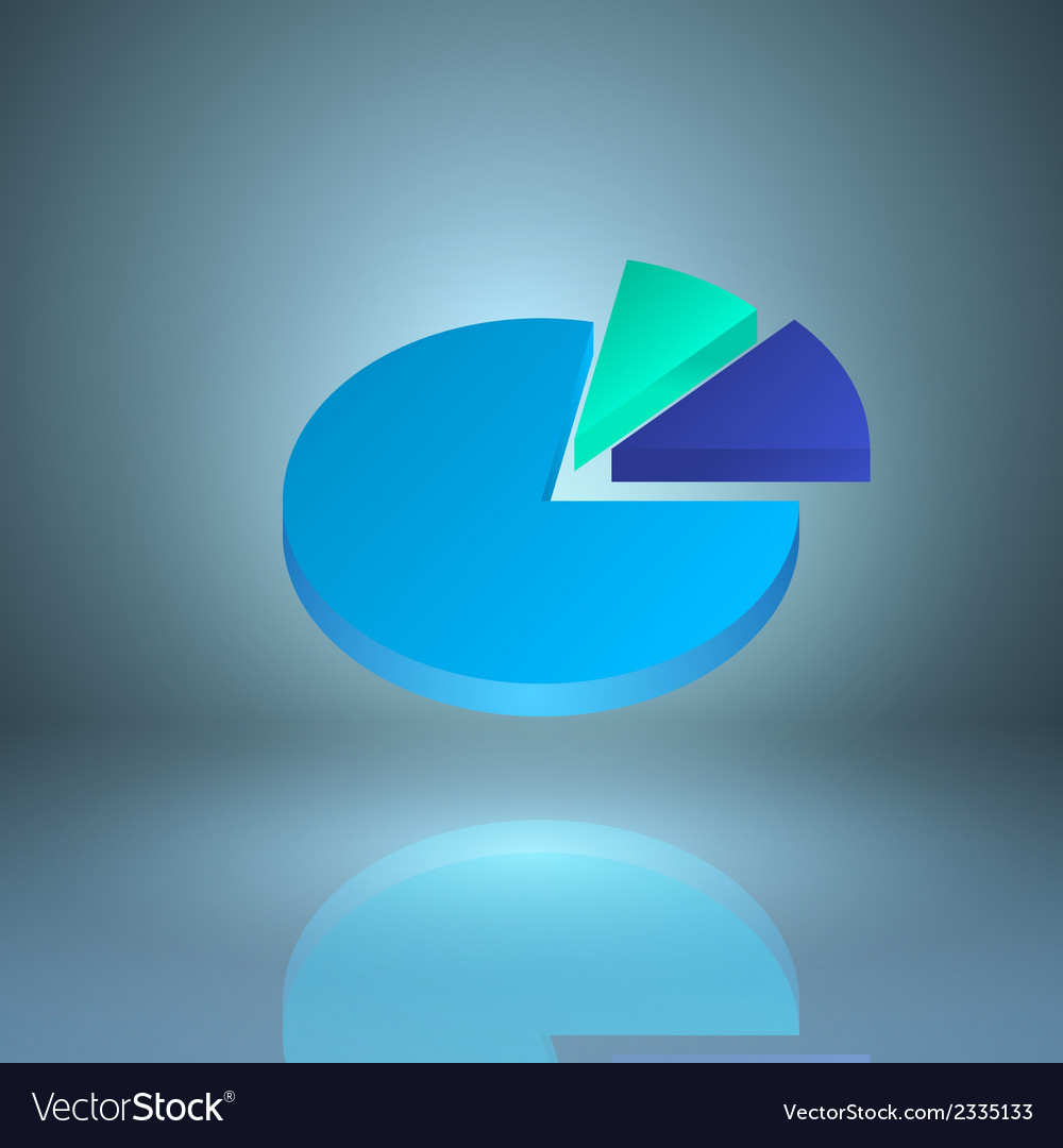 Icon pie chart vector | Price: 1 Credit (USD $1)