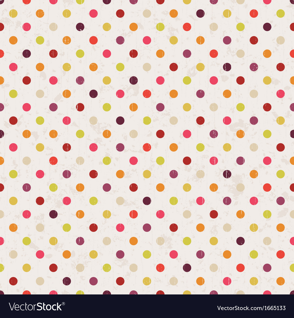 Seamless polka dots pattern vector | Price: 1 Credit (USD $1)