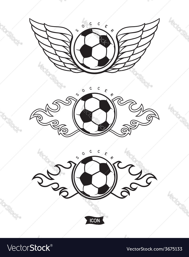 Soccer heraldic icons vector | Price: 1 Credit (USD $1)