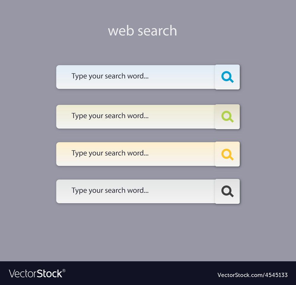 Web search field with light colors vector   Price: 1 Credit (USD $1)