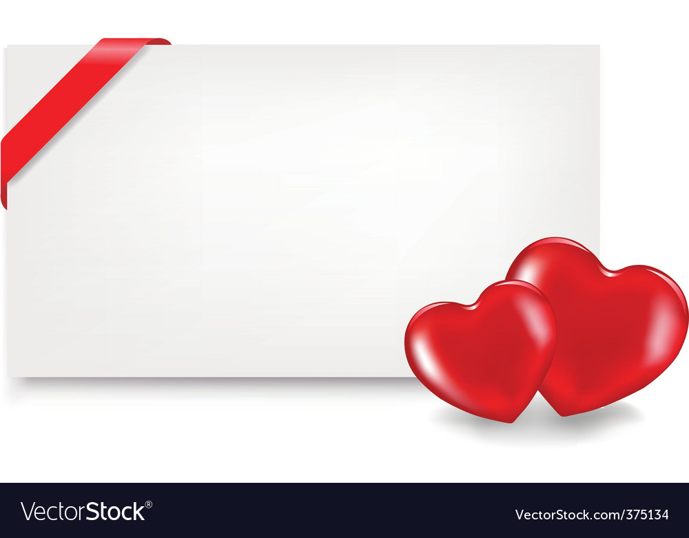 Blank gift tag with hearts vector | Price: 1 Credit (USD $1)