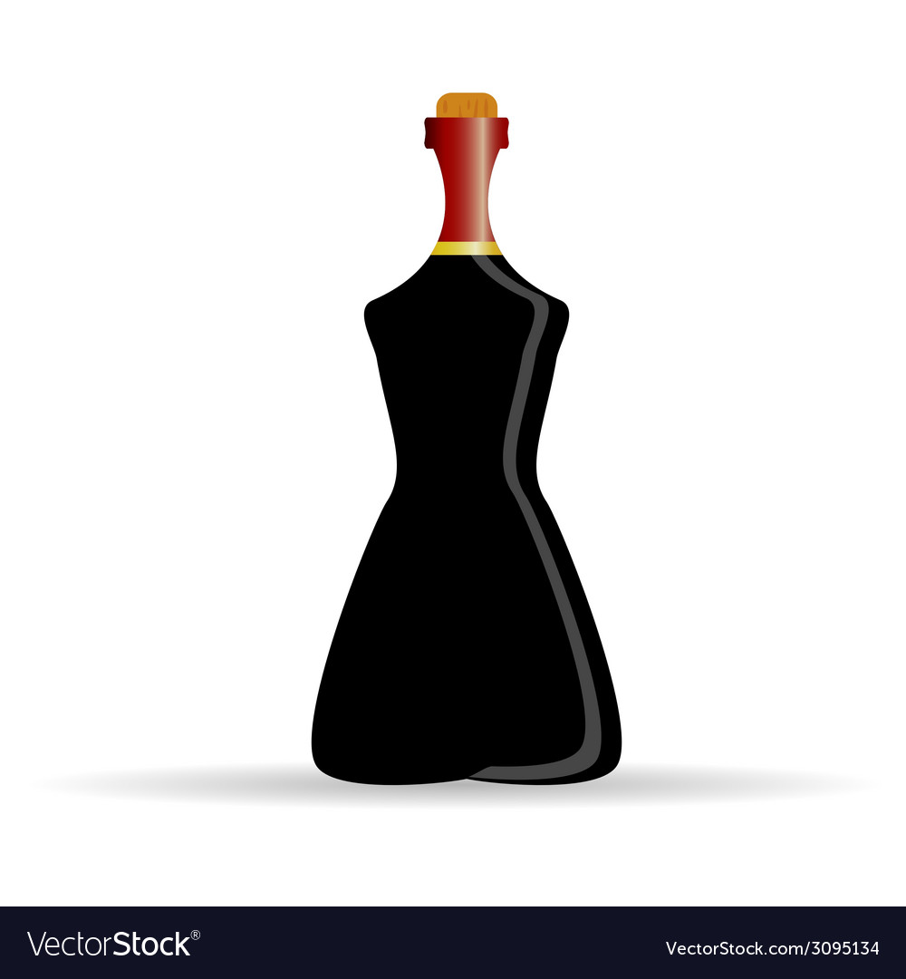 Bottle of alcohol art vector | Price: 1 Credit (USD $1)