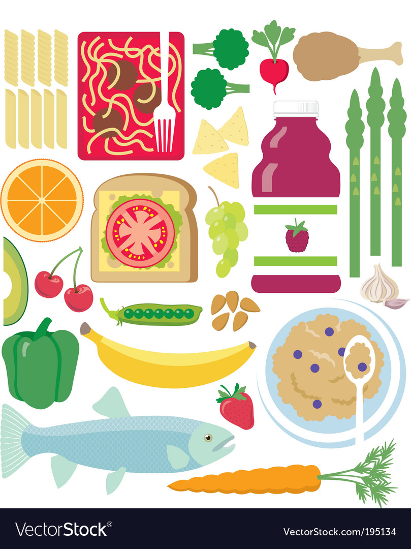 Eat healthy vector | Price: 1 Credit (USD $1)