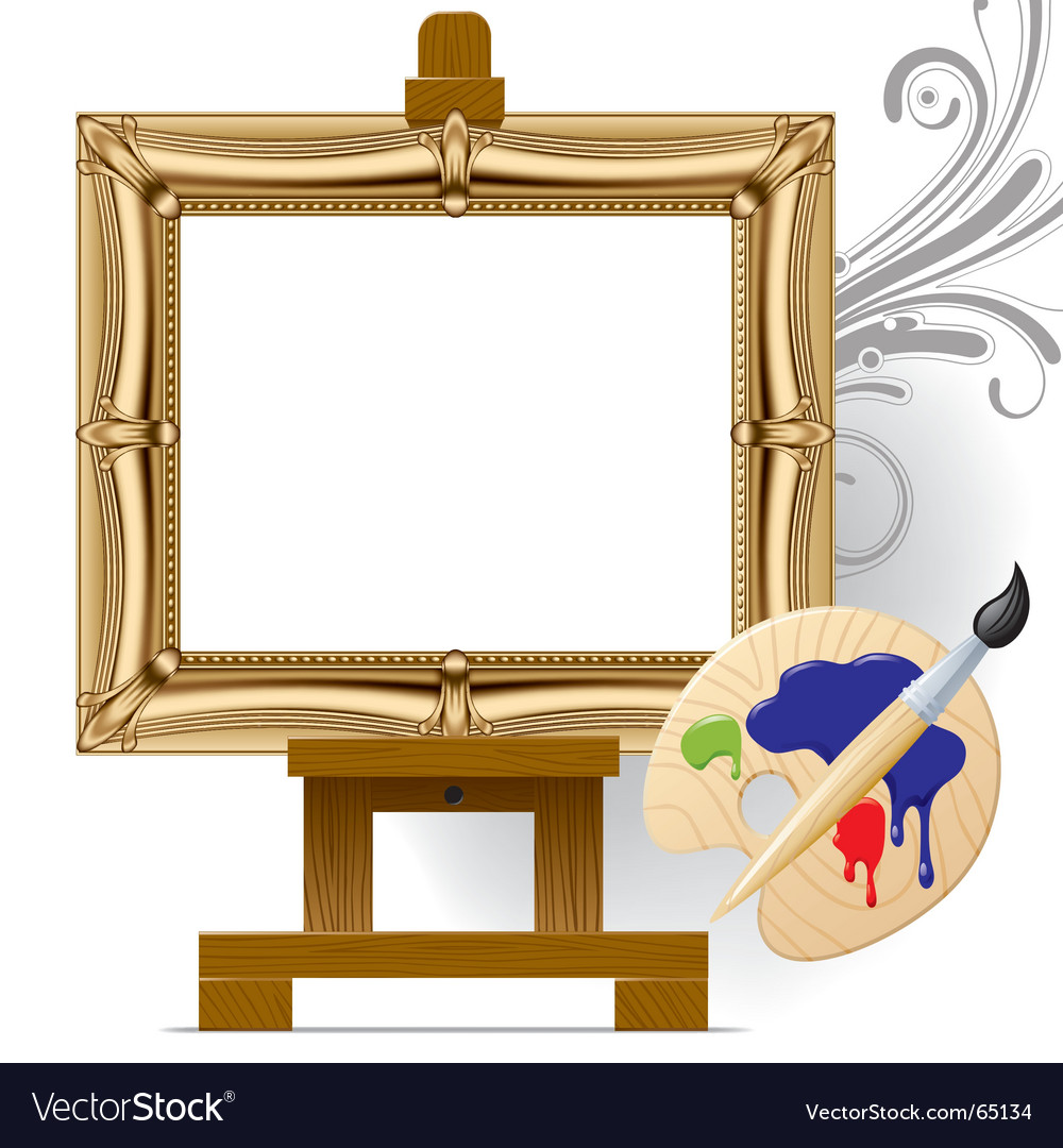 Gold frame vector | Price: 3 Credit (USD $3)