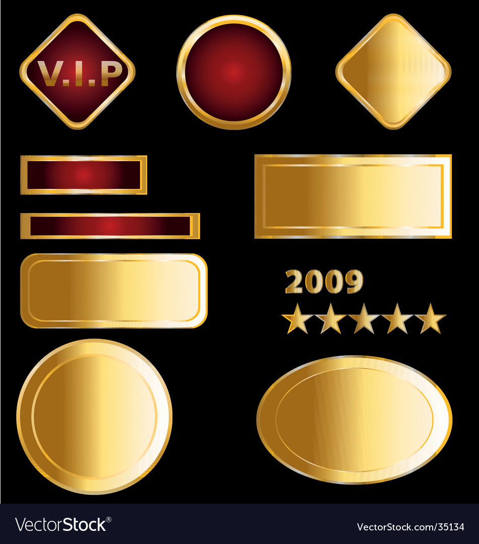 Gold labels and medals vector | Price: 1 Credit (USD $1)