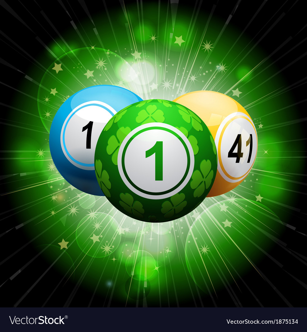 Lucky clover bingo ball explosion on green2 vector | Price: 1 Credit (USD $1)