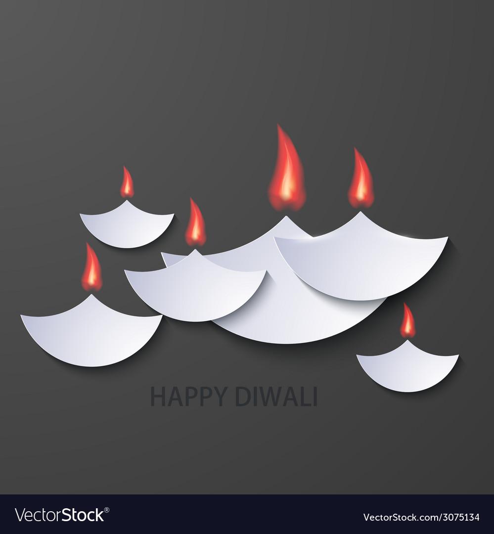Modern happy diwali background vector | Price: 1 Credit (USD $1)