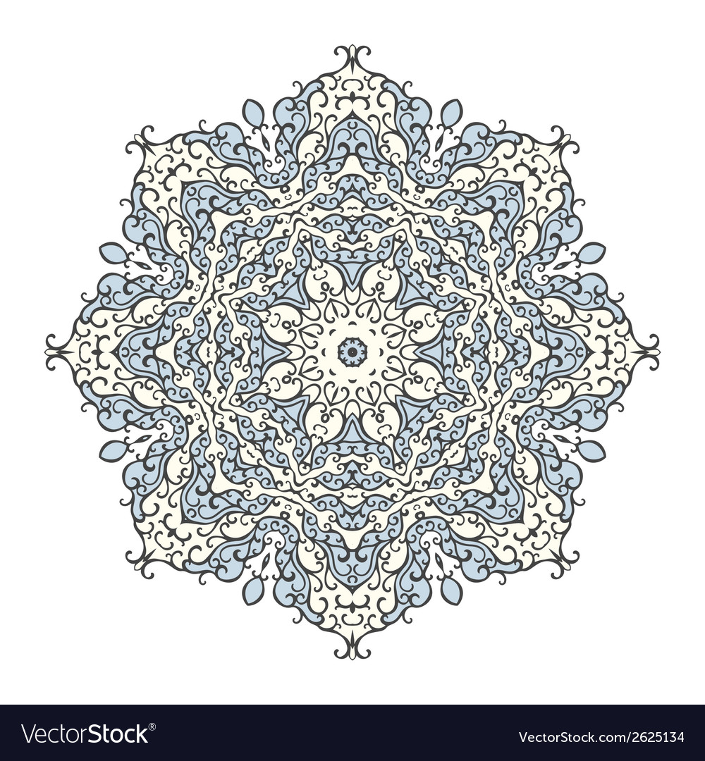 Round mandala kaleidoscopic ornamental background vector | Price: 1 Credit (USD $1)