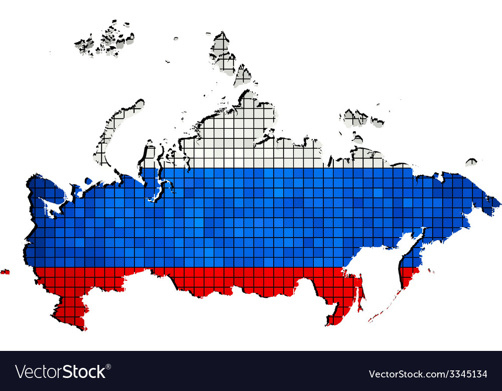 Russia map with flag inside vector | Price: 1 Credit (USD $1)