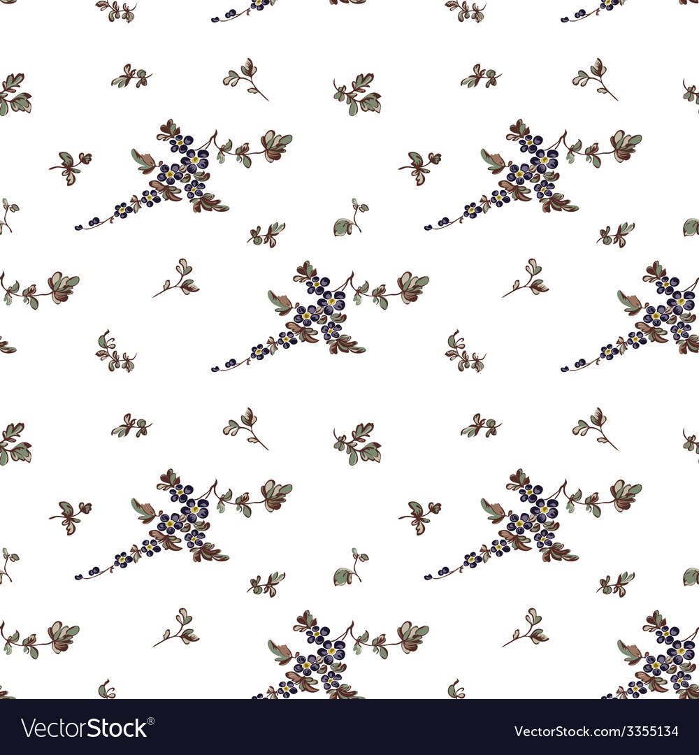 Seampless pattern floral white background vector | Price: 1 Credit (USD $1)