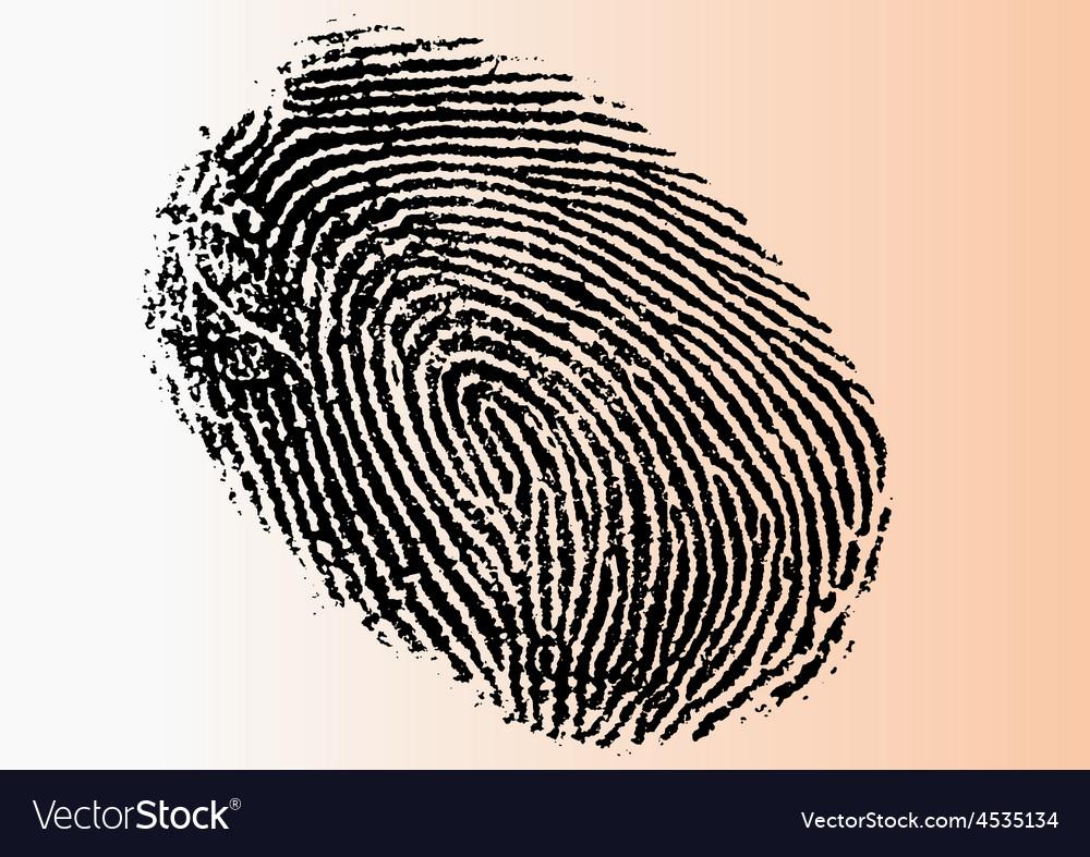 Single black fingerprint - simple monochrome image vector | Price: 1 Credit (USD $1)