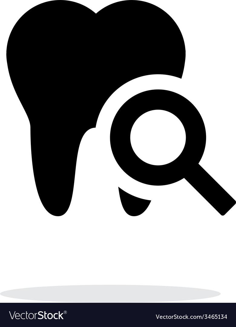 Tooth diagnostic icon vector | Price: 1 Credit (USD $1)