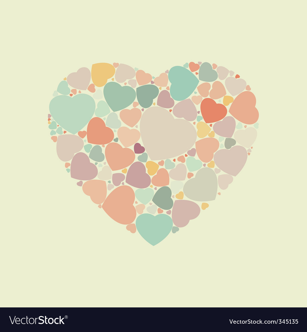 Abstract vintage heart background vector | Price: 1 Credit (USD $1)