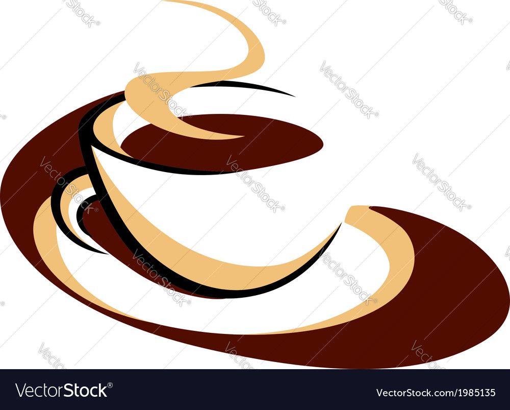 Aromatic cup of hot steaming coffee vector | Price: 1 Credit (USD $1)
