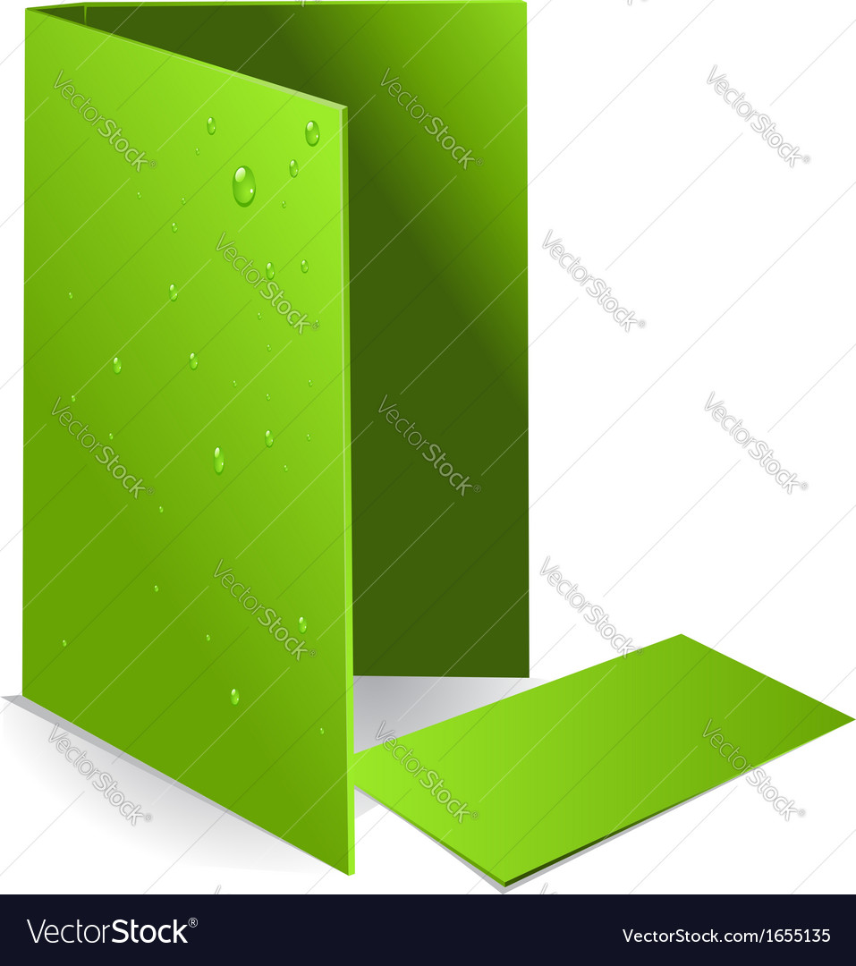 Background green visit card and document case with vector | Price: 1 Credit (USD $1)