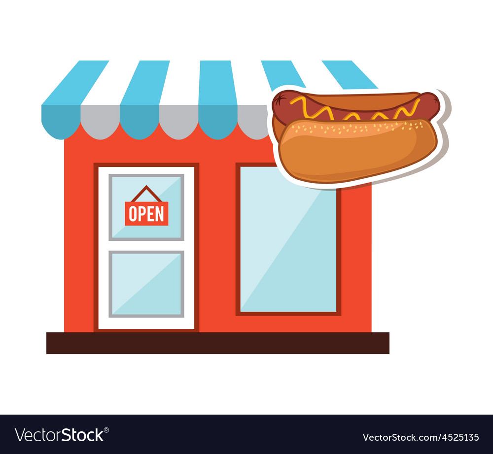 Fast food commerce vector | Price: 1 Credit (USD $1)