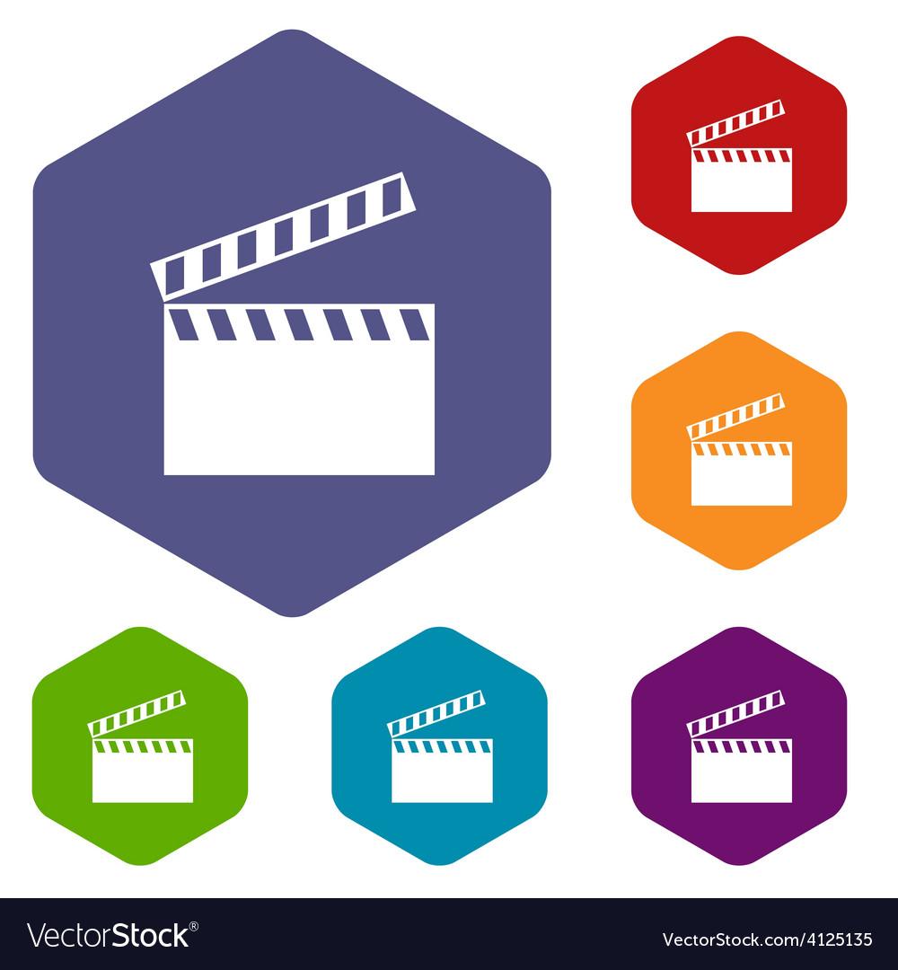 Film rhombus icons vector | Price: 1 Credit (USD $1)